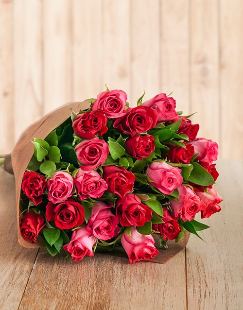 roses Red and Cerise Rose Bouquet
