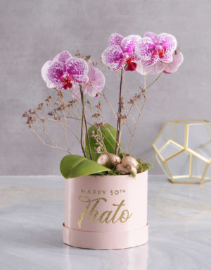 orchids Ornate Beauty Orchid Hat Box