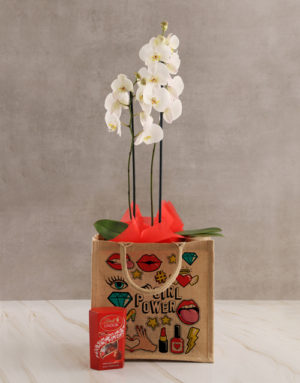 orchids Girl Power Orchid Tote Hamper