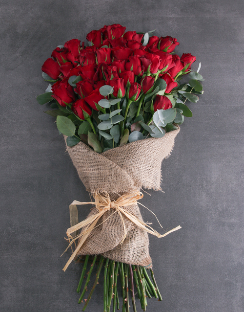 roses Fifty Layered Red Roses