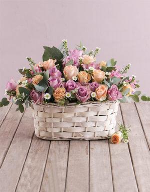 roses Basket Of Blooms