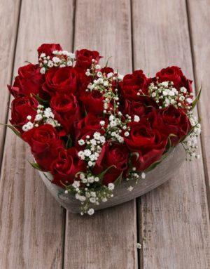 roses Ceramic Rose Heart