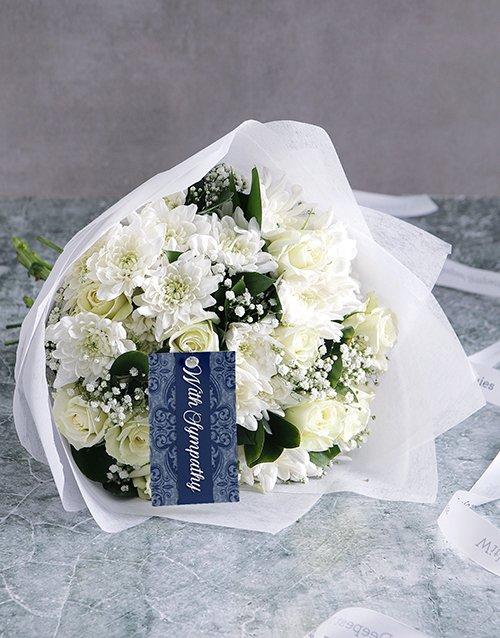 sympathy White Bouquet Of Sympathy