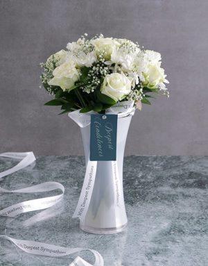 sympathy White Vase Of Sympathy