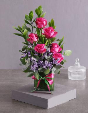 roses Artful Cerise Rose Arrangement