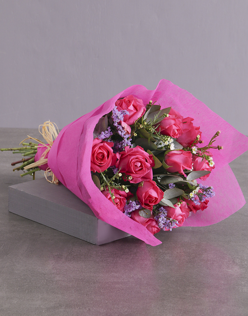 roses Spectacular Cerise Rose Bouquet