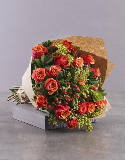 roses Classic Cherry Brandy Rose Bouquet