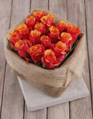 roses Cherry Brandy Roses in Rustic Box