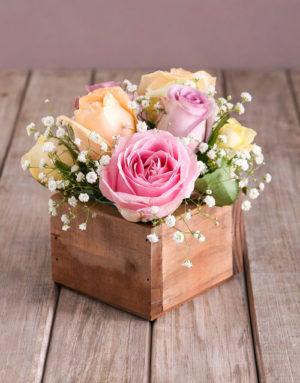Dainty Pastel Rose Arrangement