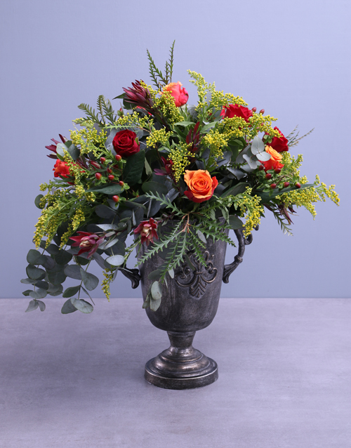 roses Cherry Brandy Roses In Shiraz Pot