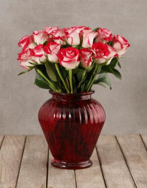 roses Classy Roses in Red Vase