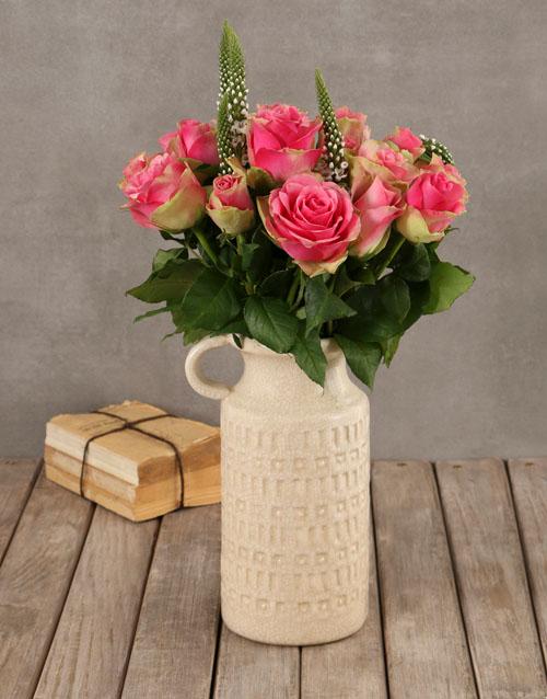 roses Classy Roses in Ceramic Vase