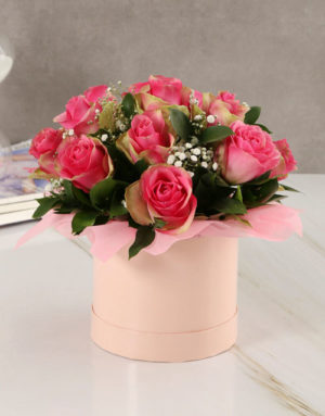 roses Classy Roses in Pink Hatbox