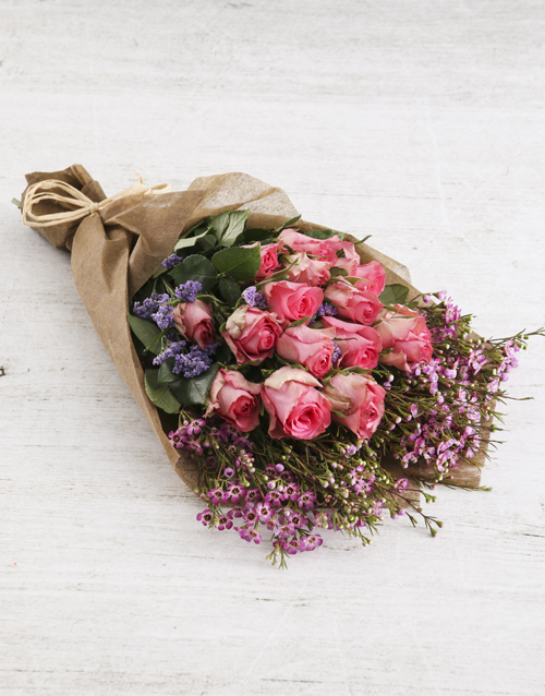 roses Perfect In Pink Rose Bouquet