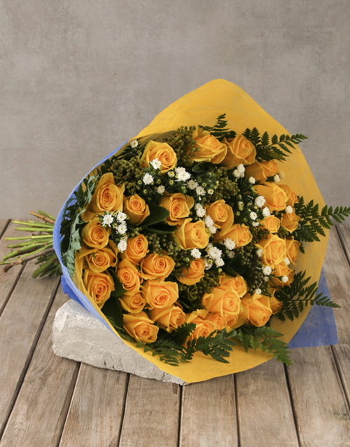 roses Regal Yellow Rose Bouquet Gift